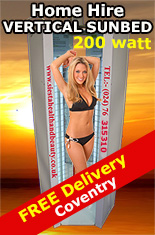 Sunbed Hire in Coventry 200watt Stand up Sunbeds
