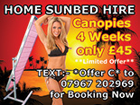Single Canopy Sunbeds for hire in Coventry
